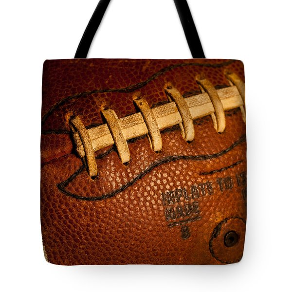 Football Laces Tote Bag