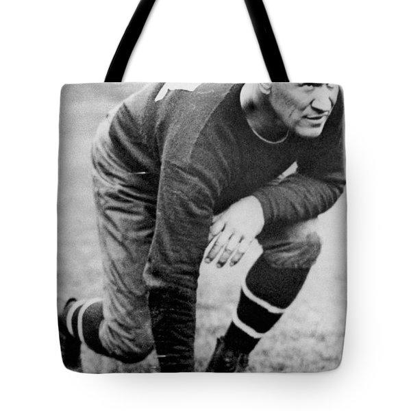 Football Player Jim Thorpe Tote Bag