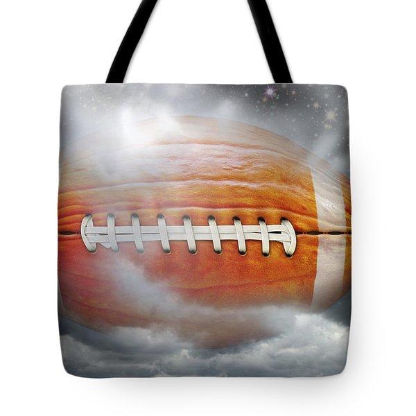 Football Pumpkin Tote Bag by James Larkin
