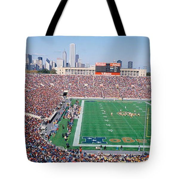 Football, Soldier Field, Chicago Tote Bag by Panoramic Images