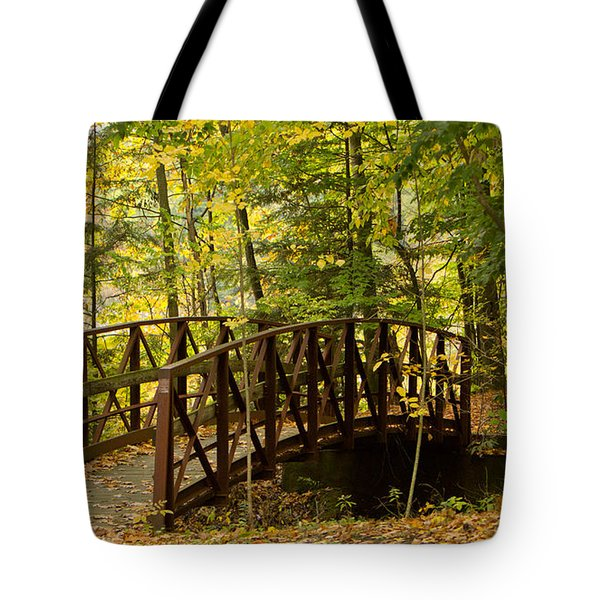 Footbridge At Letchworth Tote Bag