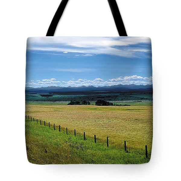 Foothills Of The Rockies Tote Bag by Terry Reynoldson