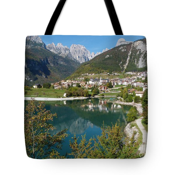 Tote Bag featuring the photograph Molveno by Phil Banks