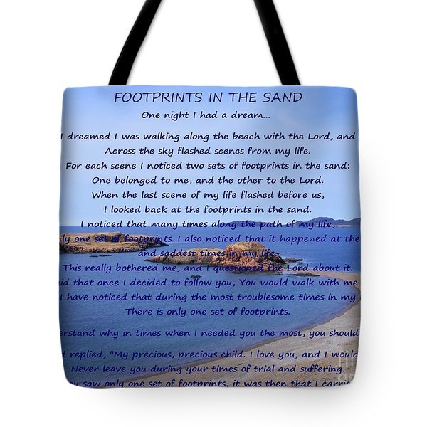 Footprints In The Sand 2 Tote Bag