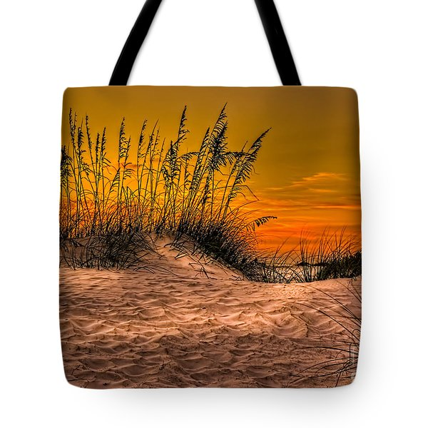 Footprints In The Sand Tote Bag