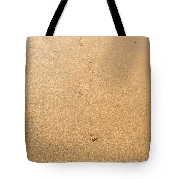 Footprints In The Sand Tote Bag by Pixel  Chimp
