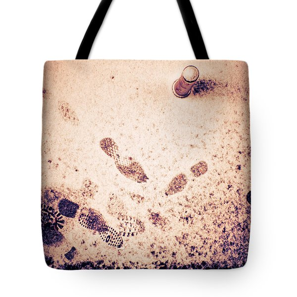 Footprints In The Snow Tote Bag by Silvia Ganora
