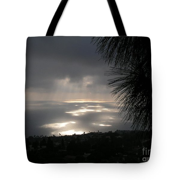 Footprints On The Ocean Tote Bag by Bev Conover