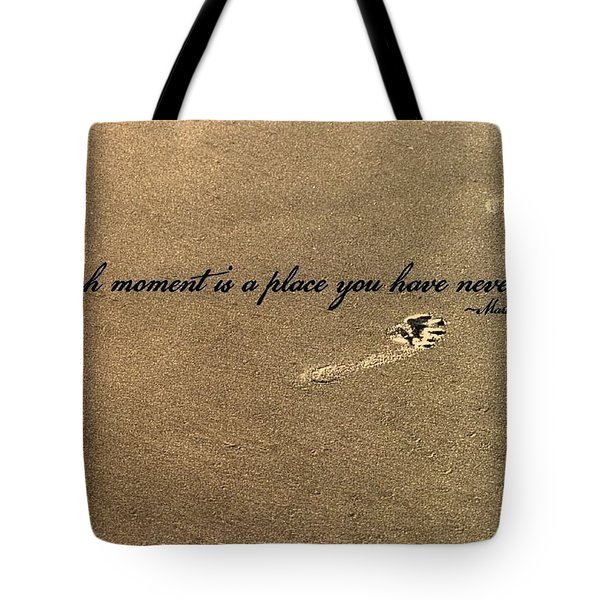 Footprints Quote Tote Bag by JAMART Photography