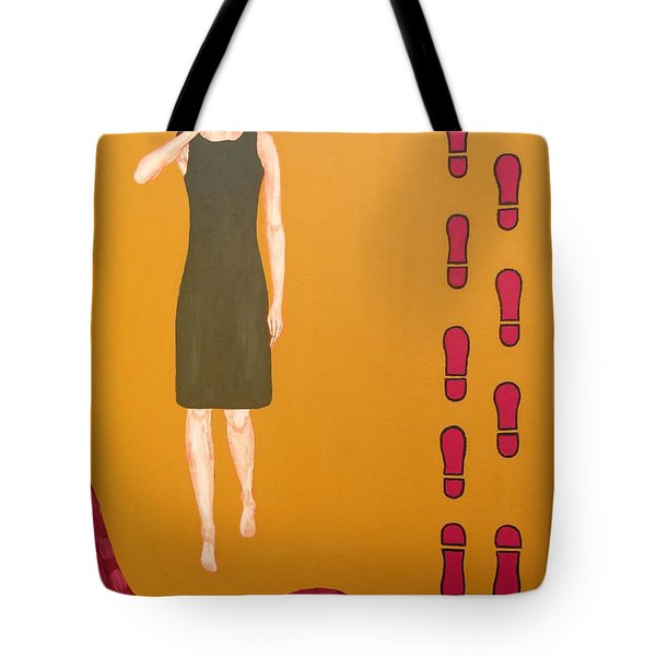 Footsteps In The Sand Tote Bag by Patrick J Murphy