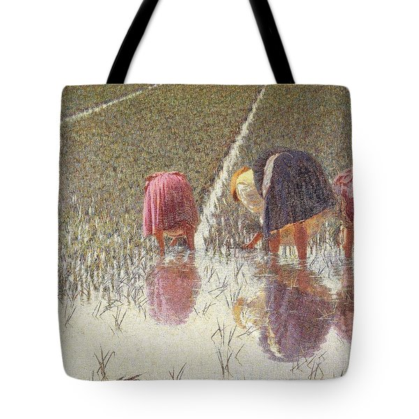 For Eighty Pennies Tote Bag by Angelo Morbelli