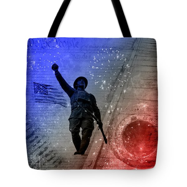 For Freedom Tote Bag by Fran Riley