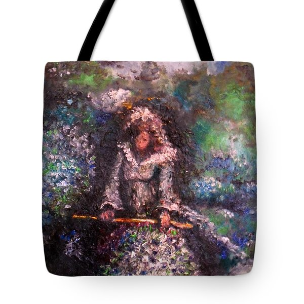 Tote Bag featuring the painting For Grandma by Laurie Lundquist