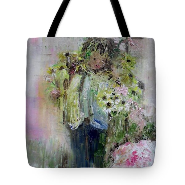 Tote Bag featuring the painting For My Mother by Laurie L