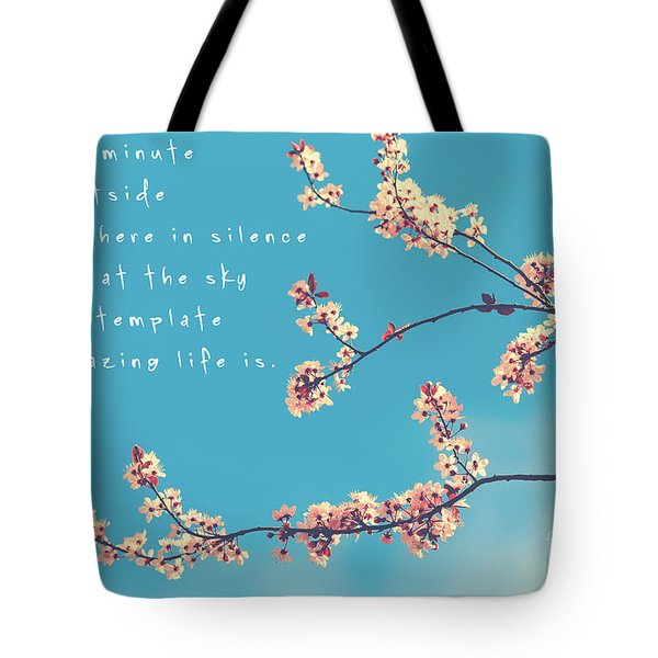 For One Minute Tote Bag