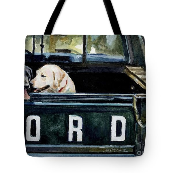 For Our Retriever Dogs Tote Bag by Molly Poole