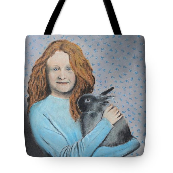 Tote Bag featuring the painting For The Love Of Bunny by Jeanne Fischer