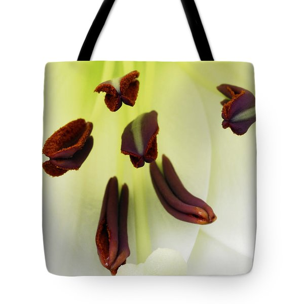 Tote Bag featuring the photograph For The Love Of Lilies 1 by Wendy Wilton