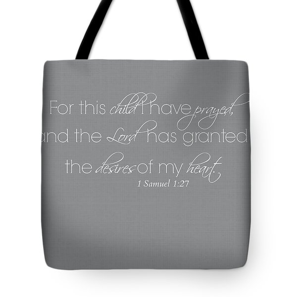 For This Child Whole Verse Tote Bag