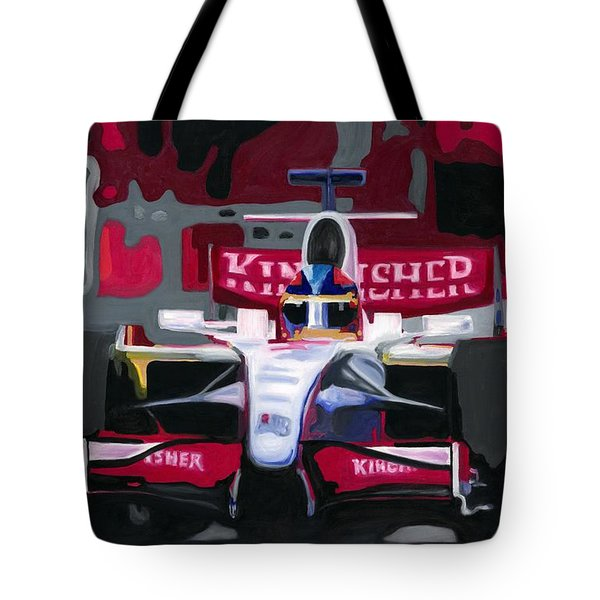 Force India Rising In F1 Monaco Grand Prix 2008 Tote Bag