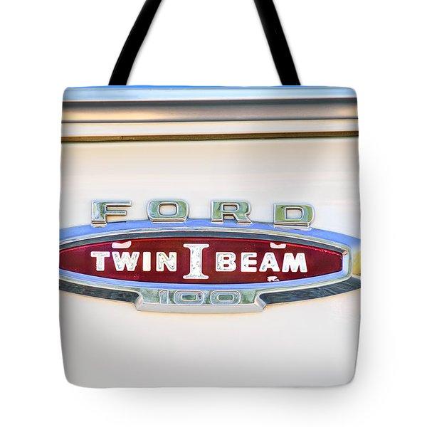 Ford 100 Twin I Beam Truck Emblem Tote Bag