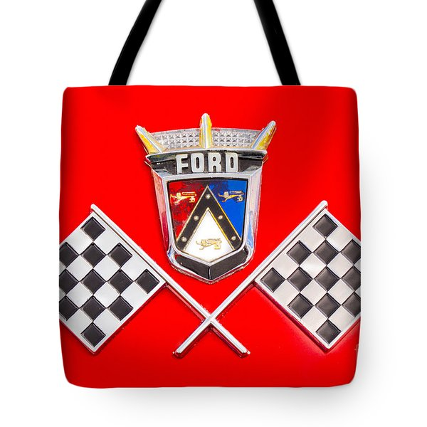 Ford Emblem Tote Bag by Jerry Fornarotto