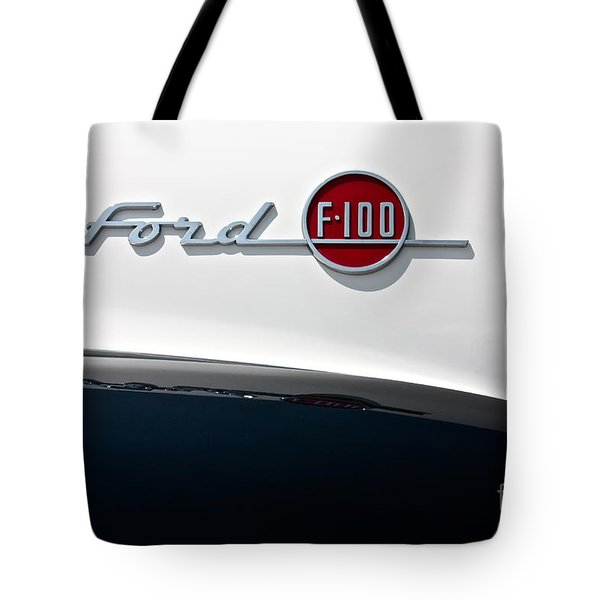 Ford F-100 Tote Bag by Linda Bianic