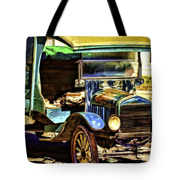 Tote Bag featuring the painting Ford by Muhie Kanawati