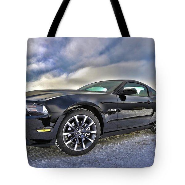 Tote Bag featuring the photograph ford mustang car HDR by Paul Fearn