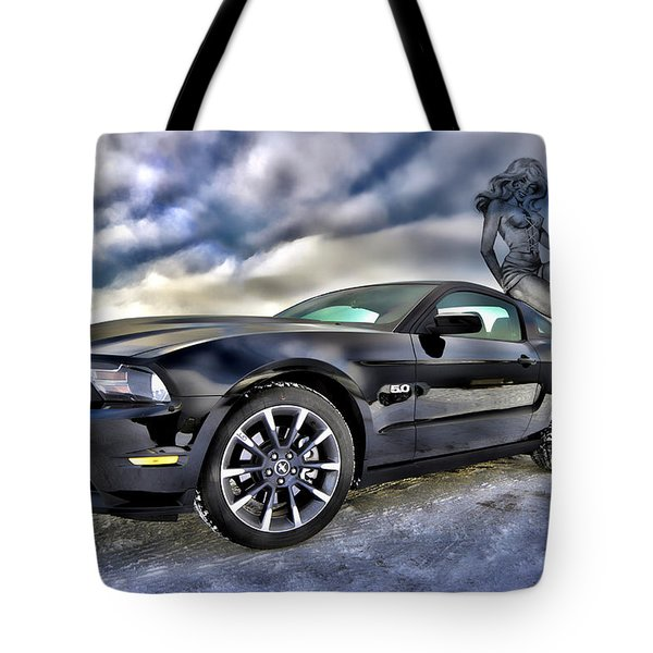 Ford Mustang - Featured In Vehicle Eenthusiast Group Tote Bag by EricaMaxine  Price