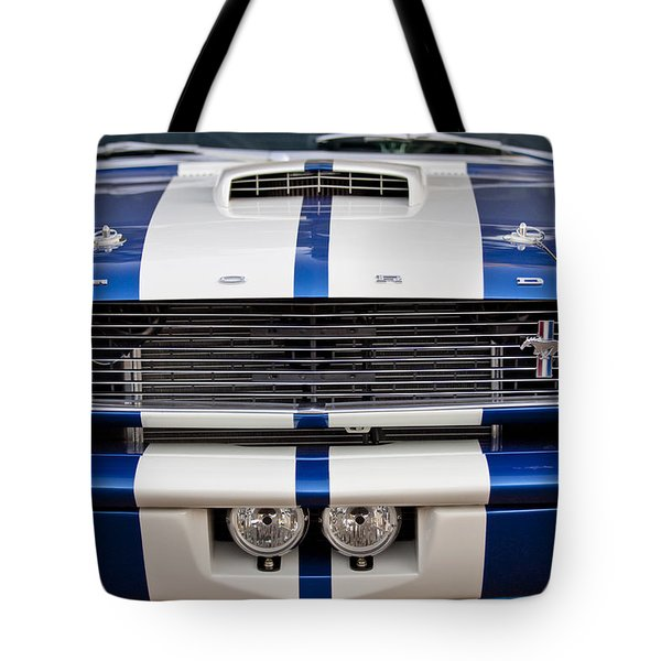 Ford Mustang Grille Emblem Tote Bag by Jill Reger