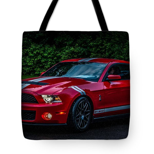 Ford Mustang Gt 500 Cobra Tote Bag