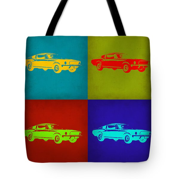 Ford Mustang Pop Art 1 Tote Bag by Naxart Studio