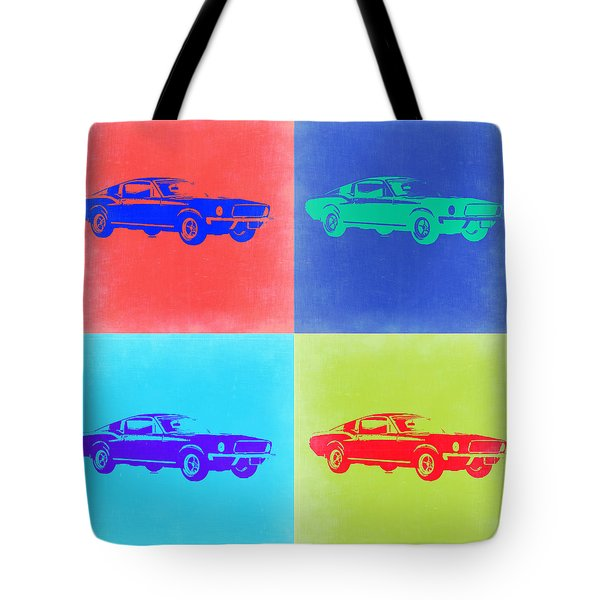 Ford Mustang Pop Art 2 Tote Bag
