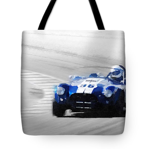 Ford Shelby Cobra Laguna Seca Watercolor Tote Bag