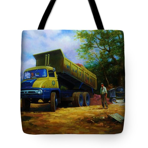 Ford Thames Trader Tote Bag by Mike  Jeffries