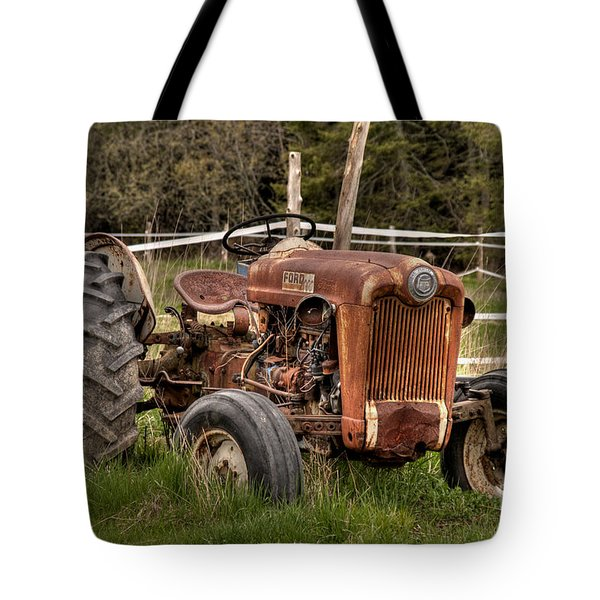 Tote Bag featuring the photograph Ford Tractor by Alana Ranney