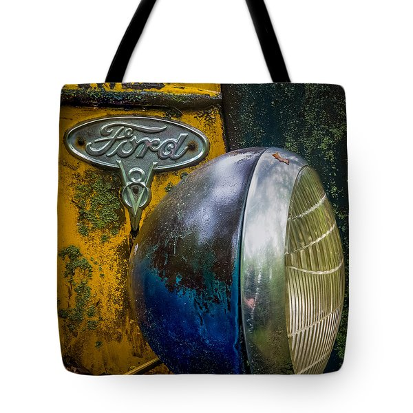 Ford V8 Emblem Tote Bag
