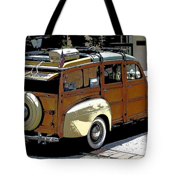 Ford Woodie Tote Bag