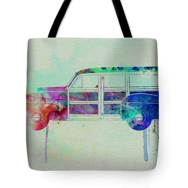Ford Woody Tote Bag by Naxart Studio