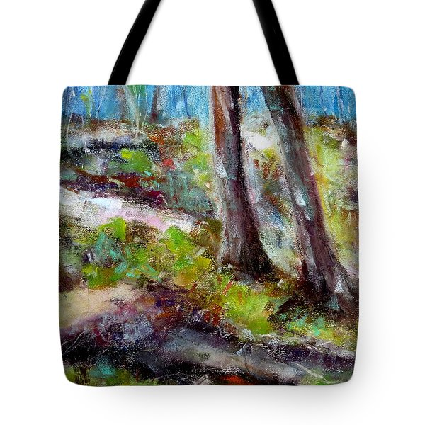 Tote Bag featuring the painting Forest Carpet by Katie Black