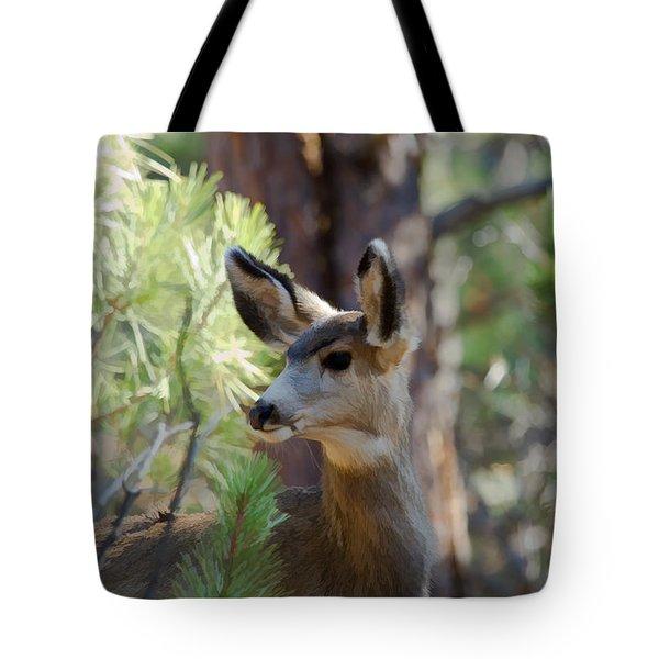 Forest Doe Tote Bag