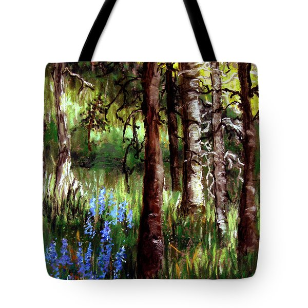Forest Evening Glow Tote Bag by Carol Kovalchuk
