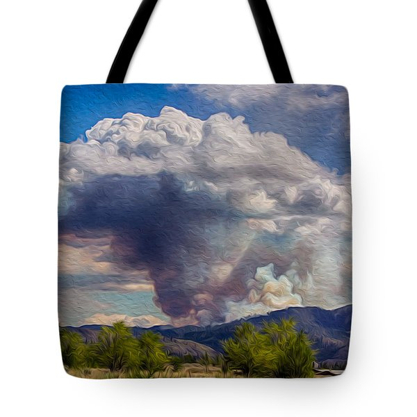 Forest Fire South Of Twisp Tote Bag by Omaste Witkowski