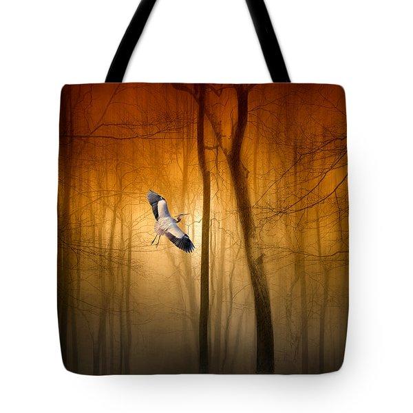 Forest Flight Tote Bag