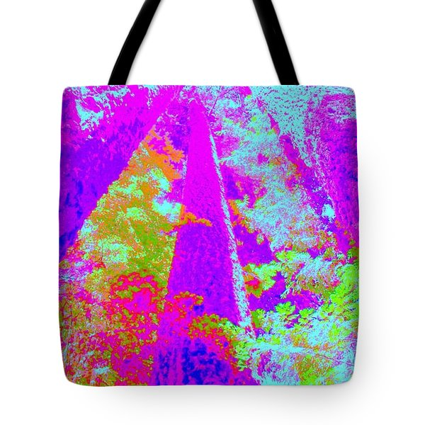 Tote Bag featuring the photograph Forest Giants I by Ann Johndro-Collins