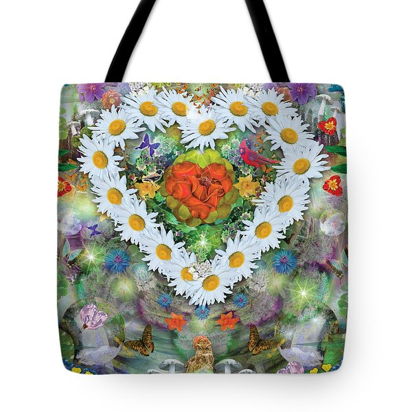 Forest Heart Tote Bag by Alixandra Mullins