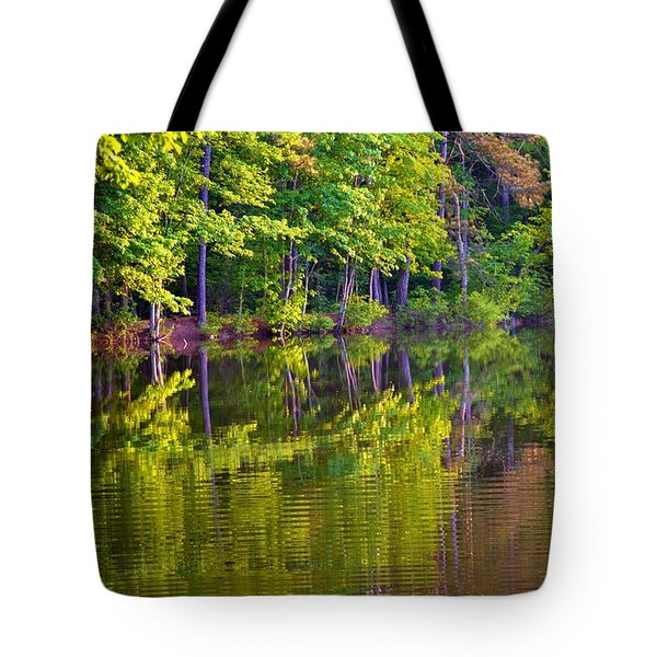 Forest In Reflection Tote Bag