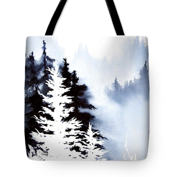 Forest Indigo Tote Bag