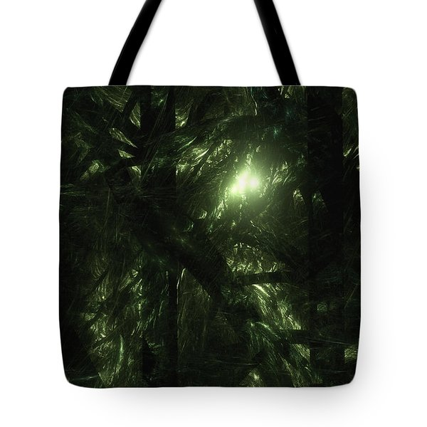 Tote Bag featuring the digital art Forest Light by GJ Blackman